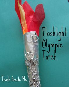 Greek Olympics Lesson Ideas For Kids flashlight olympic torch School Projects, Projects For Kids, Crafts For Kids, Olympic Crafts, Olympic Games, Greek Crafts, Greek Week, Summer Reading Program, Summer Programs