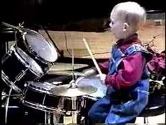 """3 Year Old Drummer - Levi was featured on""""Be A Drumhead"""" a DVD featuring Will Kennedy & Bob Gatzen. Bob produced a series of inspirational DVD's for Warner Bros. and Alfred publishing featuring young talent with major artists."""
