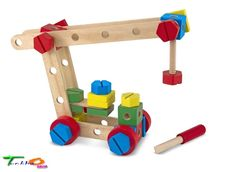5151 Melissa Doug Construction Building Sets Wooden Boxes Baby Child Preschool #MelissaDoug