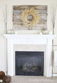 Fall mantle-neutral decor. #fall #falldecor #mantle