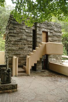 Fallingwater: Entrance to Edgar Kaufmann's dressing room | by curiouslee