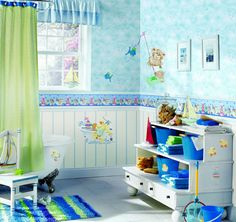 Enjoying And Relaxing Modern Young Kidu0027s Bathroom Decorating Ideas    Interior Design   Decorating Any Room For Your Little Kid Will Create A Fun  And ...