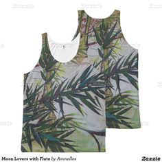 Moon Lovers with Flute All-Over Print Tank Top with art by Avonelle Kelsey