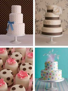 Selection of cakes.