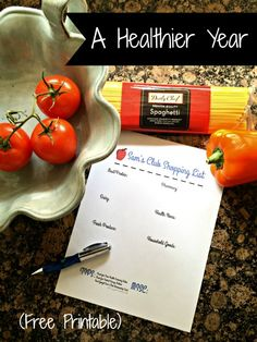 An Early Start to a Healthier Year (Shopping List Free Printable)! ad #SamsClubMag
