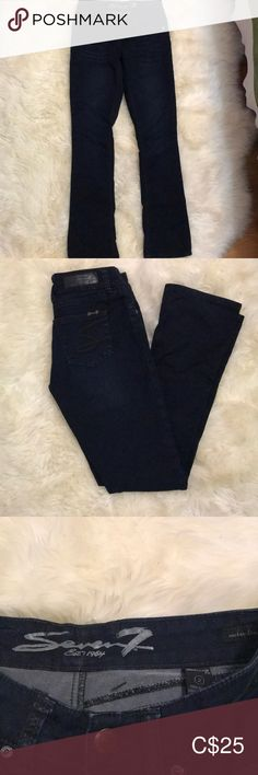 Rocker Slim Jeans Dark wash Jeans with stretch in the rocker slim style. True to size, worn once. Slim Jeans, Skinny Jeans, Seven7 Jeans, Dark, Best Deals, Pants, Closet, Style, Fashion