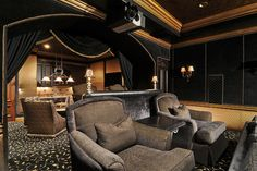 Elegant Media Room traditional-home-theater