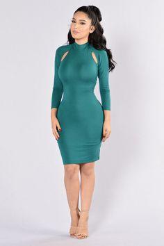 I'm Sprung Dress - Jade