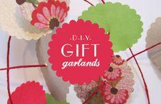 Gift Garlands   {Lifestyle DIY, Stylish Ideas}   The Pretty Blog