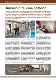 Temos o gosto de partilhar convosco um artigo sobre a nossa Casa publicado na revista Portugal Inovador. Country, Portugal, House, Creature Comforts, Quartos, Casa De Campo, Houses, Rural Area, Home