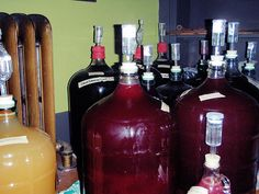Home Made Wines in Secondary Fermenation