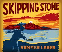 Skipping Stone Summer Lager~    Great summer beer