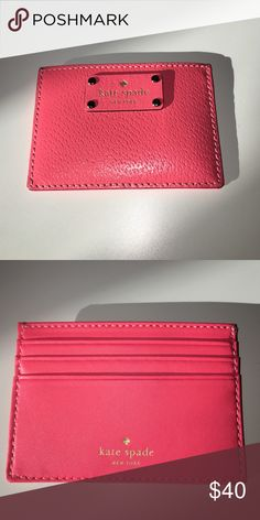 NWOT. Kate Spade ♠️Card Holder New never used. Coral pink color. Please refer to pics for actual color kate spade Bags Wallets