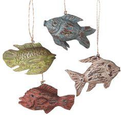 Ocean Fish Christmas Ornament (Set of 4)