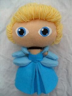 disney felt dolls   Cute felt doll Disney Princess Cinderella by KurageNeko on Etsy