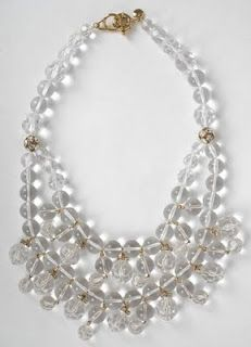 What you need: an amazing chandelier necklace like this, to take it over the top