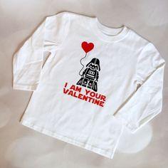 Darth Vader Valentine's tee for kids: Fun! #StarWars