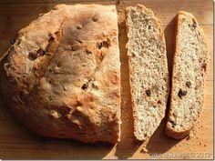 Rustic Raisin Walnut Bread