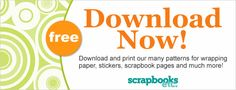 Download & Print our many patterns for wrapping paper, stickers, scrapbook pages and much more.-scrapbooks etc.