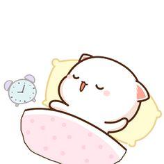 蜜桃猫 Cute Love Pictures, Cute Love Gif, Cute Cat Gif, Cute Images, Cute Bear Drawings, Cute Kawaii Drawings, Cute Cartoon Pictures, Cute Love Cartoons, Chibi Cat