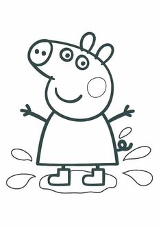 Printable Peppa Pig Coloring Pages. Have a Joy with Peppa Pig Coloring Pages. Do your children like to color pictures? If they do, the Peppa pig coloring pages Peppa Pig Coloring Pages, Birthday Coloring Pages, Unicorn Coloring Pages, Cartoon Coloring Pages, Coloring Pages To Print, Colouring Pages, Printable Coloring Pages, Coloring Pages For Kids, Coloring Books