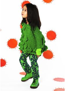 BOdeBO Bodobo JAPI pants full-length pants floral green 2013AW - children's…