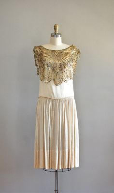 silk 20s dress / 1920s dress / Gypsy Moth dress by DearGolden, $550.00