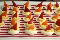 Cheesy, but boat themed foods are kind of a cute idea ;)