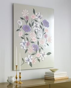 Families grow like flower gardens -- with lots of time, care, and love. This family tree wall hanging represents that basic biological truth with a variety of subtly colored clip-art blossoms. This lovely botanical design gives you a bouquet of creative choices. Don't hesitate to have some fun with the arrangement, moving the flowers around, to make this wall bouquet lovely to look at.