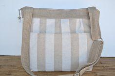 DSLR Camera Bag for women / Taupe Linen Stripe Digital Camera Bag Dslr / Unique camera bag  / stylish slr / by Darby Mack Etsy