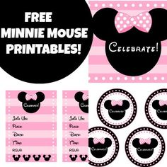 FREE PINK MINNIE MOUSE PRINTABLES + Extras!