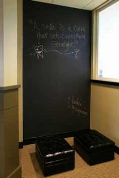 amazing idea for waiting room to allow patients to write quotes, express gratitude or just doodle