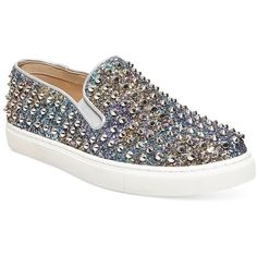 7e584b75f46 Steve Madden Women s Emmmaa-s Embellished Slip-On Sneakers ( 99) ❤ liked on  Polyvore featuring shoes