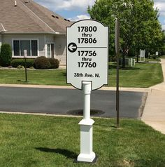 Neighborhood signs just installed and looking sharp! New design provides larger type for easier reading, and a single pole mount for easier maintenance.