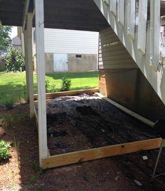 DIY Ground Level Deck