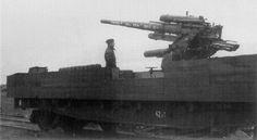 This Panzerzug had a rear flat car modified with a 88mm FlaK gun