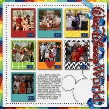 cute, colorful scrapbook page
