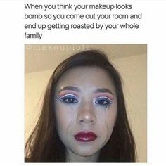 I think it looks cool personally lol Dankest Memes, Funny Memes, Hilarious, Funny Shit, Funny Stuff, Makeup Humor, Lol, Looks Cool, Just For Laughs
