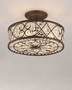 Shop Woven Crystal Semi-Flush Ceiling Fixture at Horchow, where you'll find new lower shipping on hundreds of home furnishings and gifts. Bedroom Lighting, Home Lighting, Lighting Ideas, Kitchen Lighting, Ceiling Light Fixtures, Ceiling Lights, Ceiling Ideas, Ceiling Lamp, Wall Lights