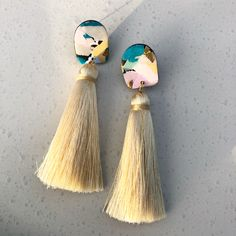 Polymer clay and tassels by Salvation Jewellery.