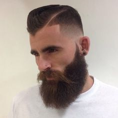 Modern Dapper Mens Low Fade Haircut With Beard Mens Hairstyles Fade, Haircuts For Men, Men's Hairstyles, Great Beards, Awesome Beards, Hair And Beard Styles, Hair Styles, Low Fade Haircut, Look Man