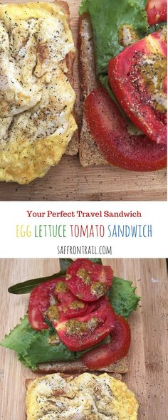 Travel With This Sandwich - Egg Lettuce Tomato Sandwich Carry this sandwich on your next flight and it will truly be a case of neighbour's envy-owner's pride. Delicious to the core!