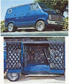 Custom Vans, the rolling room, the king of the road, the shaggin wagon. Van sitings are getting fewer and far between. Customised Vans, Custom Vans, Station Wagon, Custom Van Interior, Dodge Van, Old School Vans, Vanz, Day Van, Panel Truck