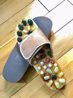 34baaee1c0a5 Wooden Foot Slippers Acupressure Shoe Massage Natural Stone Jnvshop  Reflexology (38 EU
