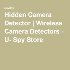 Safeguard your privacy against intrusion with our hidden camera detectors. They can pick up a range of frequencies to alert you to concerns. Hidden Camera Detector, Spy Store, Counter Surveillance, Wireless Camera, Rappelling, Old Maps, Home Security Systems, Antique Maps, Old Cards