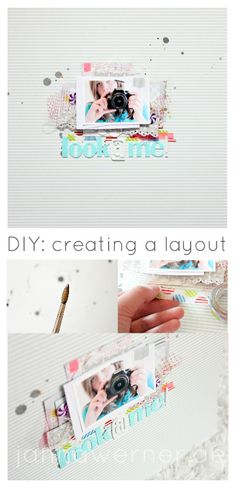 DIY: creating a scrapbooking page