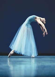 National Ballet of Canada - I love the blue on blue on blue here. Brilliant pose, but stunning colors.
