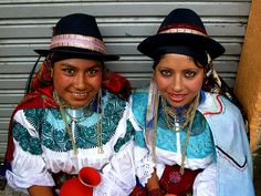 Beautiful costumes and striking eyes in equador