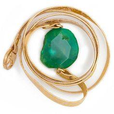Leather wrap bracelet with Turquoise Agate stone por oiajules