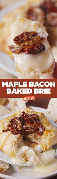 Maple bacon baked brie is the appetizer that literally no one can walk away from. Get the recipe from Delish.com.